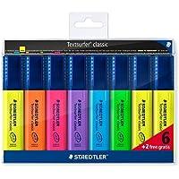Staedtler  Rotuladores fluorescentes multicolor. Permanente, secado rápido, recargable. Estuche con 8 marcadores. 364 A WP8