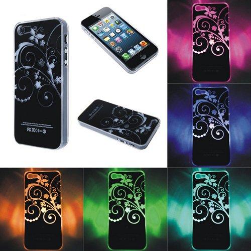 SENSE Flash LED changeantes Motif fleur Coque pour téléphone iPhone 4/4S/5/5S, plastique, iPhone 5/5s
