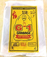 G-1 280 pcs - 25 X 30 Large Disposable Garbage Trash Waste Dustbin Bags of 63cm x 76cm