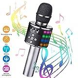 Karaoke Mikrofon bluetooth, GLIME Tragbare Drahtlose Mikrofon Stereo Player Multifunktionell Dynamisches Mikrofon...