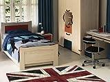 Designer Teppich / Motivteppich / Design Teppich / Teppich mit Motiv / Wandteppich Wand Teppich / Barteppich Bar Teppich / Wohnteppich Teppich moderner Wohnzimmer Teppich Wohnzimmerteppich Läufer / Union Jack London / England Teppich / Vereinigten Königreich Großbritannien 230 x 160 cm Flor : 100 % Viskose Basis : 85 % Baumwolle 15 % Viskose mit außergewöhnlichem Design macht das Betreten zum reinen Vergnügen ein echter Blickfang
