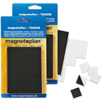 magnetoplan Takkis Blisters - Paquete de 140 arandelas adhesivas, negro