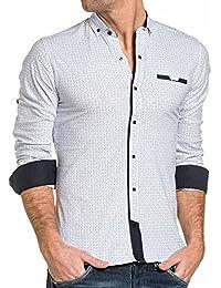BLZ jeans - Chemise homme blanche à pression