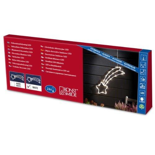 "Konstsmide 4430-203 LED Acrylsilhouette ""Komet"" / für Außen (IP44) /  24V Außentrafo / 24  kalt weiße Dioden / transparentes Kabel"