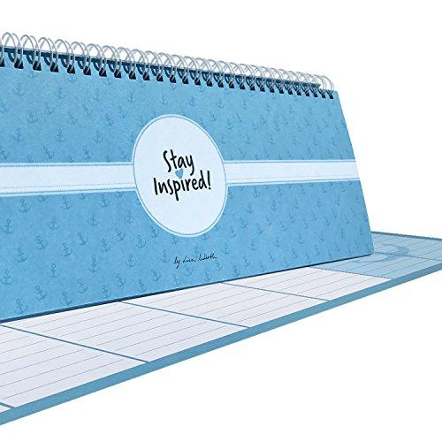 Tischkalender 2019 blau / Wochenkalender im Quer-Format / 52 Wochen, 1 Woche 2 Seiten / Tisch-Querkalender ohne festes Datum für 365 Tage / incl. ... In wunderschöner Karton Box. by Lisa Wirth