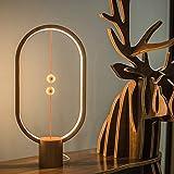 Heng Balance Lampara - una galardonada lámpara de Clase Mundial, Interruptor de Aire Medio magnético USB Alimentado por la lámpara LED, diseño de Reddot Ganador de la lámpara Madera Clara,Oval002