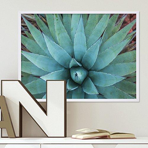 Design-Poster mit Bilderrahmen Schwarz 'Monstera' 30x40 cm Motiv Natur Aquarell Blatt Pflanze