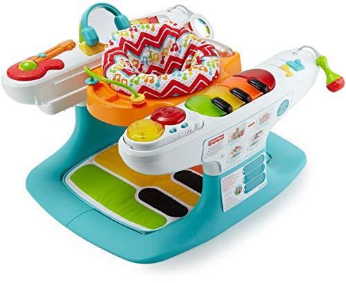 Fisher-Price Fisher-Price - Baby Gear Baby Piano 4 In 1, con Oltre 12 Giocattoli e Attività Tutto Intorno, DMR09