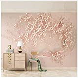Pvc 3D Custom Mural Wallpaper Rose Gold Flower Luxury Living Room 3D Stereo Tv Background Murals Decorative Wall Papers Home Decor 300X210cm,Yzra