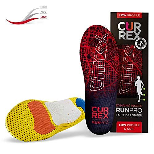 CURREX RunPro Sohle - Entdecke Deine Einlage für eine neue Dimension des Laufens. Dynamische Einlegesohle für Sport, Freizeit und Laufen, Low Profile, EU 42-44