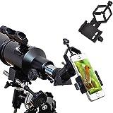 ueasy Smartphone Capturer Support Téléphone Portable Adaptateur universel compatible avec jumelles Monoculaire Télescope et microscope