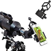 Support universel pour téléphone portable Ueasy - Compatible avec jumelle monoculaire, loupe binoculaire, télescopes et microscopes