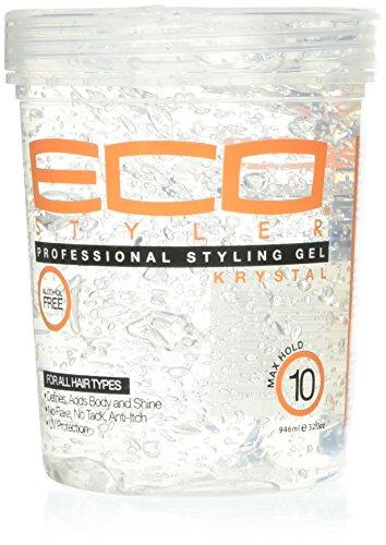 Eco Styler Gel coiffant Krystal - Soutien et volume - Formule légère anti-démangeaison pour tous types de cheveux - 900 g
