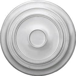 Ekena Millwork CM24TR 24 3/8-Inch OD x 5 1/4-Inch ID x 1 1/2-Inch P Traditional Ceiling Medallion