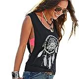 Tops für Frauen lmmvp Damen Buchstabe Print Sexy Tank Crop Tops Weste Bluse T-Shirt