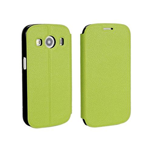 Samsung Galaxy Ace Style LTE G357 Hülle, CaseFirst Leder Handyhülle PU Geldbörse Anti-kratzer Lederhülle Schutzhülle Schutz Stoßfest Bookstyle Wallet Case mit Karten fächer (Grün)