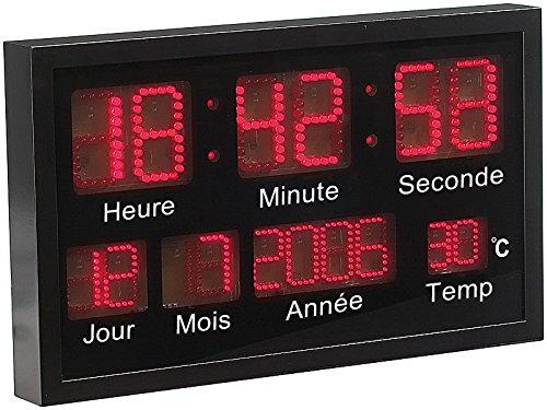 Lunartec - Horloge Murale à LED