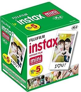 Fuji 96090 Instax Mini Instant Film, 10 Blatt, 5 Stück