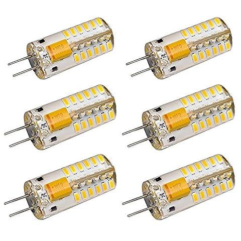 6-Pack G4 48-LED Warm White Light Crystal Bulb Lamps 3