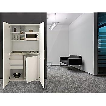 Exceptionnel Respekta Single Büro Pantry Küche Miniküche Schrankküche Weiß Front Weiß  Ceran