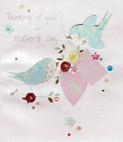 Thinking Of You, pulsante per la festa della mamma, abbelliti Cards-Biglietto d