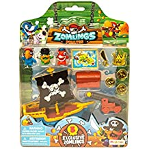 Zomlings Blíster Pirata Barco, Color Azul (Magic Box INT Toys P00993)