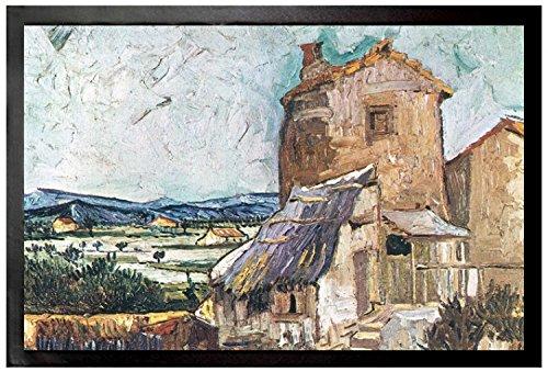 Vincent Van Gogh - El Viejo Molino, 1888, Detalle Felpudo Alfombrilla
