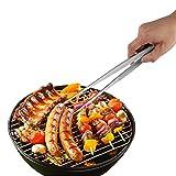 FENGRUIUI Grill Pinzette Lebensmittel Servierzange Grillzange aus Edelstahl, Tweezer Buffet, BBQ, Kochen, Zubehör für Tee-Clip
