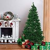 Künstlicher Weihnachtsbaum hochwertiger Tannenbaum Christbaum, mit Metallständer, Material PVC, Innen und Außenbereich (Grün, 210cm)