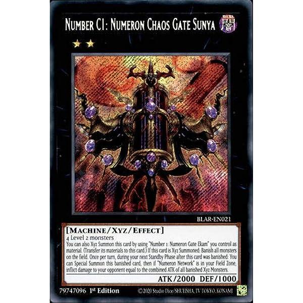 Number C1 Numeron Chaos Gate Sunya NM 1st Ed YuGiOh BLAR 021 Card Secret Rare