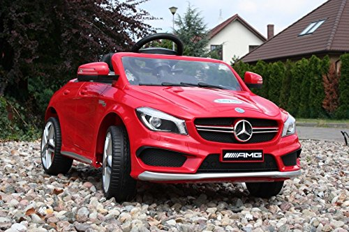 Babycar 450r - Auto Elettrica per Bambini Mercedes CLA 45 AMG Full Optional con Telecomando, 12 Volt, Rosso