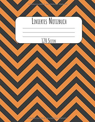 120 Seiten: A4 Tagebuch I Kladde I Schreibheft I Notizblock für Halloween Liniert mit Softcover und schönem Zick Zack Cover ()