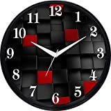 #3: Cartoonpur 11 inches Analog 3D Cubes Silent/Sweeping Movement Plastic Wall Clock with Glass