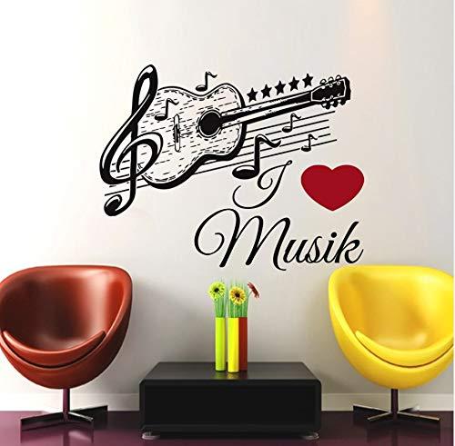 Xlei Etiqueta De La Pared Música Guitarra Etiqueta