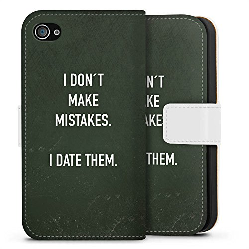 Apple iPhone X Silikon Hülle Case Schutzhülle Date Humor statement Sideflip Tasche weiß