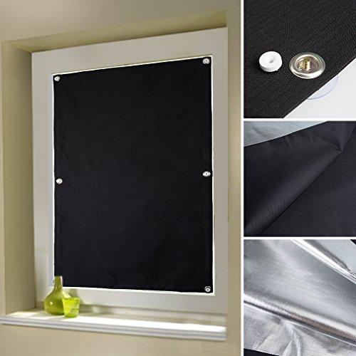 Auralum 38 x 75cm tenda a rullo finestra da tetto rullo sfumature oscuranti adatto per velux finestre tetto / oscuramento avvolgibile con struttura in sucker senza foratura - nero