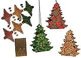 XL BASTELSET Weihnachtskalender - 24 Tannenbäume zum Aufhängen / Hinstellen + Befüllen - selber Basteln - für Erwachsene / Kinder / Mädchen Jungen - Adventskalender Weihnachten - SelbstBefüllen - Aus Papier Kleben / machen gestalten