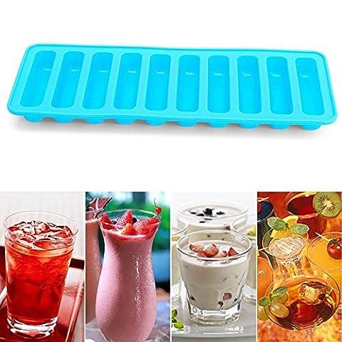 Pingenaneer 3er Set Eiswürfelform bpa Frei Eiswürfelbereiter aus Silikon für Whiskey, Cocktail, Getränk Rot Grün Blau