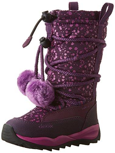Geox J Orizont B Girl Abx A, Stivali da Neve Bambina, Viola (Dk Purple c8016), 39 EU