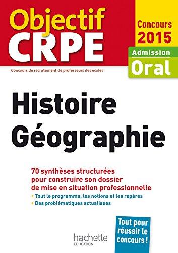 CRPE en fiches : Histoire Géographie - 2015