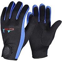 Yeshi Unisex suave ligero alta elasticidad deportivas de 1,5mm de neopreno de invierno guantes de buceo natación snorkel para buceo, natación de invierno, Rafting, canoa, deportes acuáticos, azul