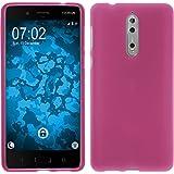 PhoneNatic Case für Nokia 8 Hülle Silikon pink matt Cover 8 Tasche Case