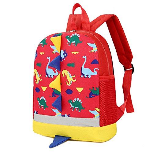 Imagen de dafenq 3d dinosaurio  infantil niño  escolares juveniles dinosaurio patrón animales guardería  viaje bolsos primaria bolsa de la escuela rojo  alternativa