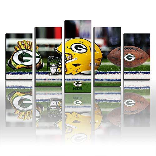 Creative Canvas Prints Wanddekoration Green Bay Packers Fußball Sport Bilder Gemälde Size3:16x24inx2,16x32inx2,16x40inx1Frame (Bay Green Bilder Packers)