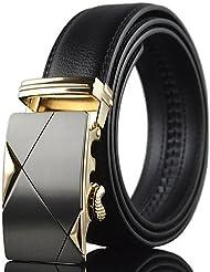 AQAQ Hombre Cuero Cinturón Ancho Trabajo / Casual Todas Las Temporadas , Black , One-Size