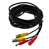 BW 5M/16.4 Feet BNC Video Power Cable For CCTV Camera DVR Security System - Cable type: 0.2mm², Cable OD: 4.0mm