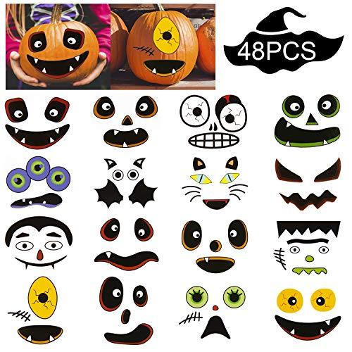 Kürbis Gesichter Schnitzen - SAVITA Halloween Kürbis Aufkleber Halloween Kürbis