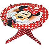 Amscan Disney Minnie Mouse Cake Stand, Red