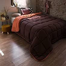 NORDICO SINTET. ICELAND NARANJA-MARRON Cama 135 (240x270cm) Color NARANJA/CHOCOLATE