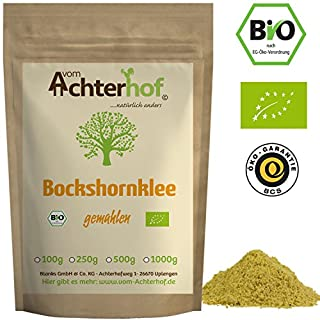 Bockshornklee gemahlen BIO (1kg) | Bockshorn-Tee| Bockshornkleesamen Pulver | Ideal als Tee oder Gewürz | Fenugreek Seeds Powder Organic